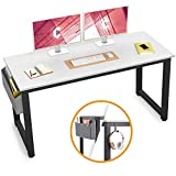 Cubiker Computer Desk 47' Sturdy Office Desk Modern Simple Style Table for Home Office, Notebook Writing Desk with Extra Strong Legs, White