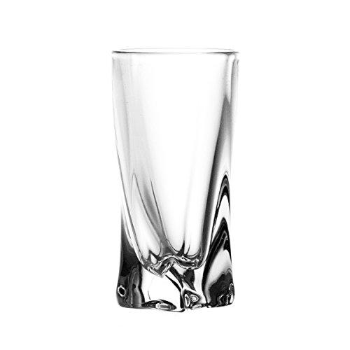 Crystaljulia 2223 - Bicchieri da Vodka in Vetro Crystalite 6 pz, 50 ml