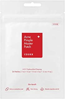 COSRX Acne Pimple Master Patch Acne Patch, Hydrocolloid Acne Absorbing Spot Dot 24 Patches