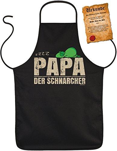 Perfect geschenk voor vaderdag barbecueschort Vaderdag Vaderdag Papa Dad Paps geschenk Grill schort verjaardag - papa der snurcher