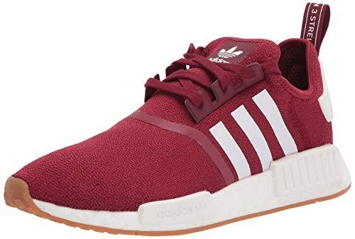 adidas Originals Men's NMD_r1 Sneaker, Collegiate Burgundy/White/Gum, 10.5
