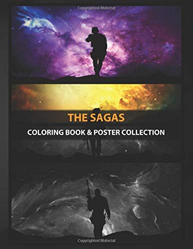 Coloring Book & Poster Collection: The Sagas 1 2 And 3 Of Games Anime & Manga