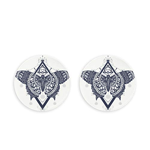Butterfly Tattoo Art Celtic Style Mystical Metal Bottle Opener 2 Pieces Fridge Bottle Opener For Craft Diy Cap Science Fridge Magnetic Clips Fixed Note