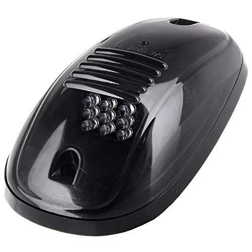 WOVELOT 5Pcs Lentille Fumee Noire Ambree LED Phare De Toit,Feux De Gabarit,Remplacement De La Lampe De Toit,Ensemble T10 pour Camion SUV pour 2003-2018 Dodge Ram 1500/2500/3500/4500/5500