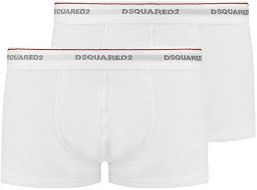 Dsquared 2 Jersey-Baumwoll-Stretch-Boxershorts, Weiß, 2XL