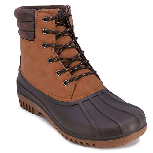 Nautica Mens Duck Boots - Waterproof Shell Insulated Snow Boot - Kelby-Tan-10
