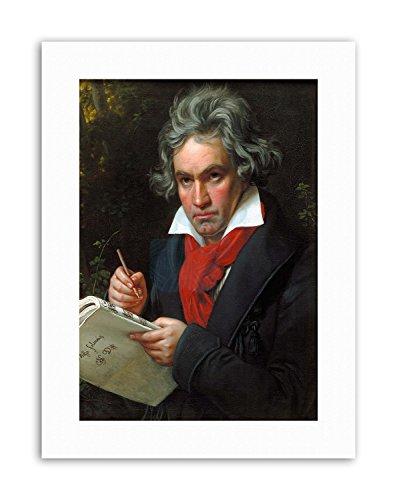 Wee Blue Coo LTD STIELER Composer Ludwig Van Beethoven Poster Canvas Art Prints