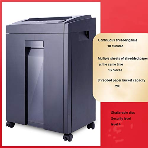 TUCY Electric Paper Aktenvernichter Silent Paper Schredder, Haushalts File Dokumentenvernichter Granular for Continuous Reißwolf In Handelsbüro (Size : 10 Minutes (23L))