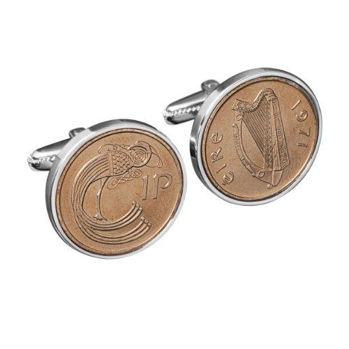 43E Birthday-1975 Irlandais Coin Boutons de Manchette