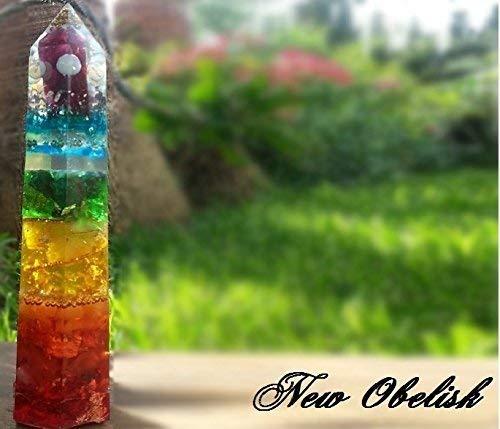 Orgonite ® Orgone Obelisk Pyramid, 7 Chakra orgonite Arborea