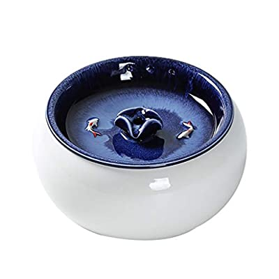 Intelligent Ceramic Pets Water Dispenser Fountain Pet Supplies Automatic Mute Suitable for Cats and Dogs Filtered Water Ceramic Design and Easy to Clean