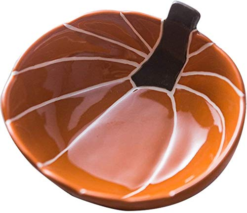 Gym Cuenco de Ceramica Cerámica Forma Recipiente De Calabaza Cubiertos Tazón De Ensalada De Fruta Niños Plato De Desayuno Tazón Alimentos for Niños Suplemento De Alimentos Utensilios