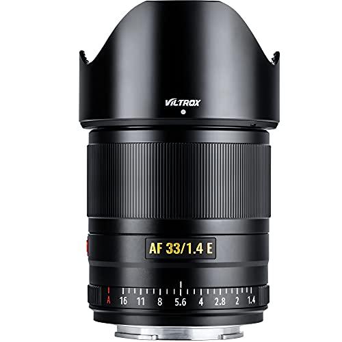 VILTROX 33mm F1.4 Auto Focus Fixed Focus Lens Compatible with Sony E-Mount Camera a6500 a6300 a7 a7Ⅱ a7RⅡa7SⅢ a7Ⅲ a7RⅢ