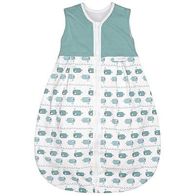 Emma & Noah saco de dormir para bebé, apto para verano, 18-24°C (1.0 Tog), 100% algodón, ideal como bolsa de dormir