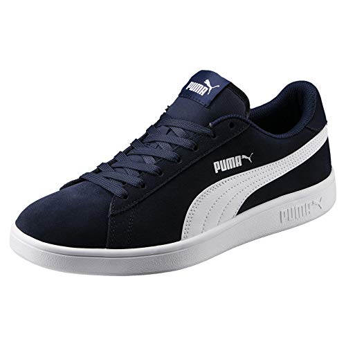 PUMA Smash V2, Zapatillas Unisex-Adulto, Azul (Peacoat White), 43 EU