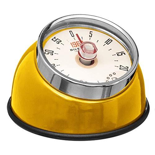 5five Timer Magnetisch küche analog Retro Magnetverschluss Küchentimer mit Magnet - Ø 8 cm