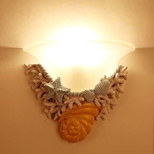 YANQING duurzame hars Shell wandlamp creatieve kunst verlichting armaturen 5-15 vierkante meter bed slaapkamer studie kinderkamer