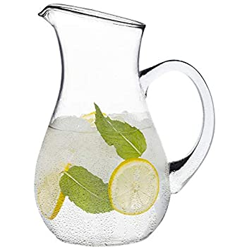 glass pitcher with spout