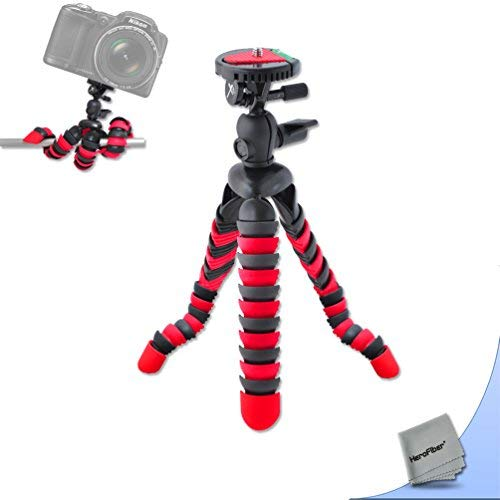 """12"""" Inch Flexible Tripod with Quick Release Plate for Nikon Coolpix AW130, AW120, AW110, AW100, S80, S60, S220, S210, S205, S200, S700, S600, S750, S520, S510, S500, S9700, S9500, S9300, S9100, S8200, S8100, S8000, 1 J3, 1 J2, 1 J1, 1 V3, 1 AW1, 1 S1 Digital Cameras"""