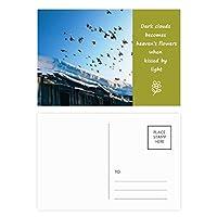 白雪姫の空の鳥の家 詩のポストカードセットサンクスカード郵送側20個