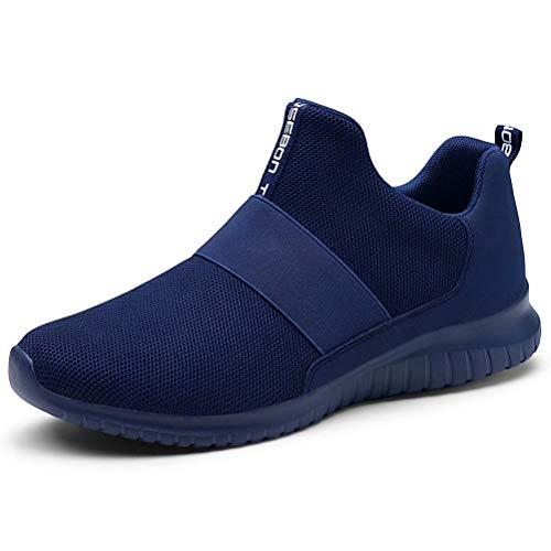 konhill Women's Slip on Sneakers - Comfortable Walking Tennis Athletic Casual Shoes 10.5 US Blue,44