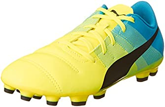 PUMA Evopower 4.3 AG Boys Football Boots/Cleats-Yellow-5.5