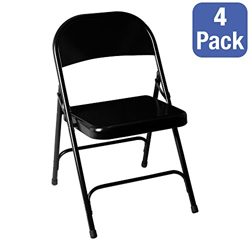 School Outfitters NOR-BK sro592So Norwood Commercial Furniture 6600Series Steel folding Chair, Black (Pack of 4)