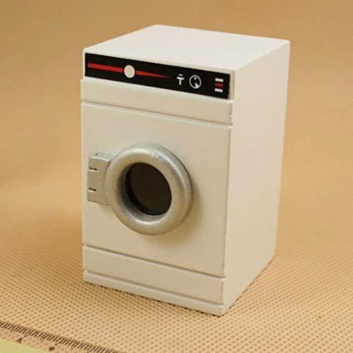 Miniatur-Puppenhaus Wäscherei Simulation Haushaltsgeräte Modell Kinder Holz-Spielzeug (Wäschetrockner). (Color : Washing Machine)