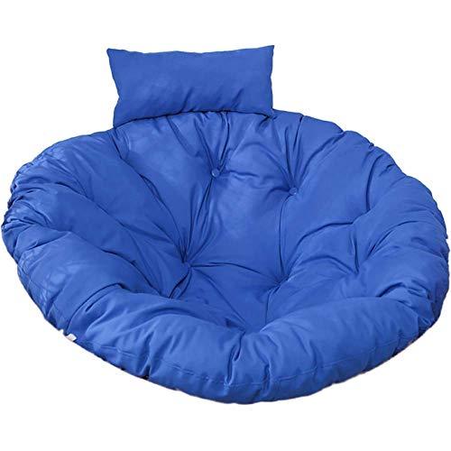 XHNXHN Almohadillas para sillas con Cesta Colgante, Almohadillas Redondas de Papasan para Asientos, Columpios para Huevos, Cojines para mecedoras, Suaves, mullidos, para Patio, jardín, Mullido Azul