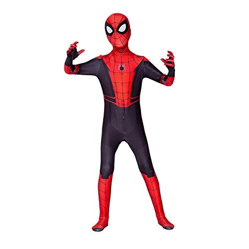FSMJY Disfraz De Superhroe Spiderman Adultos Nios Traje De Disfraces con Estampado 3D Mono Spider-Man Far from Home Body para Disfraces De Halloween Carnaval,Spiderman-120~130cm
