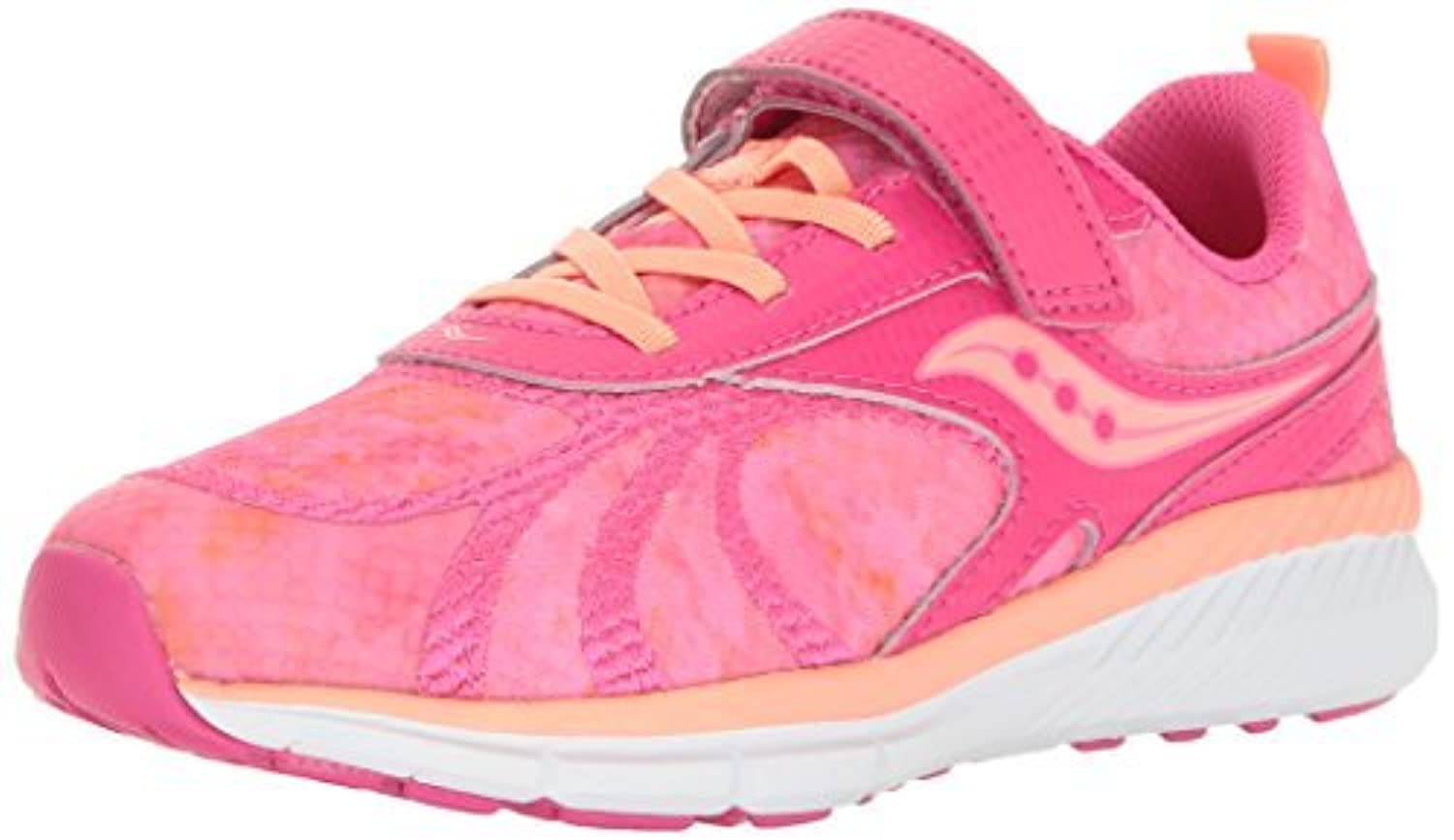 Saucony Velocity A/C Running Shoe Pink/Coral 1.5 M US Little Kid [並行輸入品]