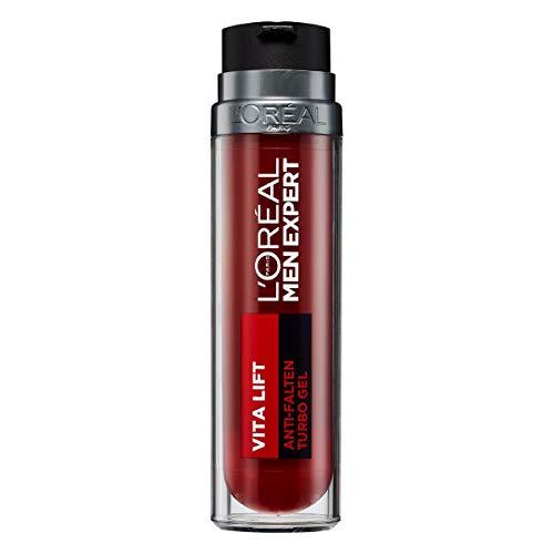 L'Oréal Paris Men Expert Anti Aging Gesichtscreme für Männer, Gesichtspflege gegen Falten, Vita Lift Anti-Falten Turbo Gel, 1 x 50 ml