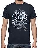 latostadora Camiseta Made in 1968 - Camiseta Hombre clásica, Azul Marino Talla XL