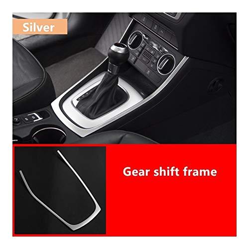 BingWS Außentürgriff Abdeckung Autotürgriff Stereo-Audio-Lautsprecher-Rahmenabdeckung Trim for Audi Q3 2013-18 Edelstahl-Konsole Zierleiste Leselampe Rahmen schützend (Color : Gear Shift Frame)