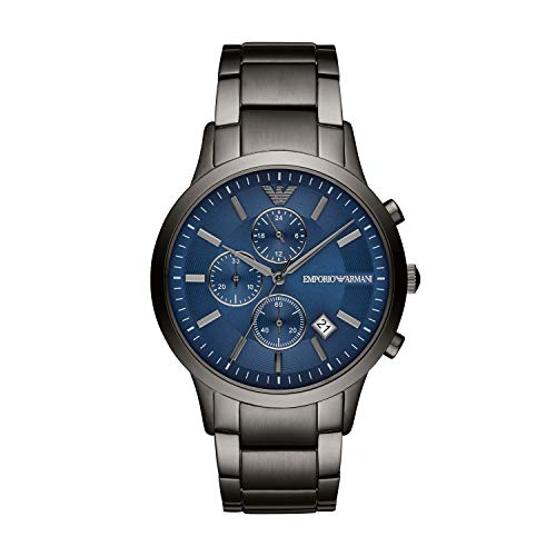 Emporio Armani Herren Chronograph Quarz Uhr mit Edelstahl Armband AR11215