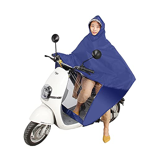 WYB Regenponcho   Fahrrad Regenponcho Regenmantel Herren und Damen wasserdicht, leicht, lang, faltbar   unentbehrlich zum Wandern, Festivals und Radfahren,Blau,6XL