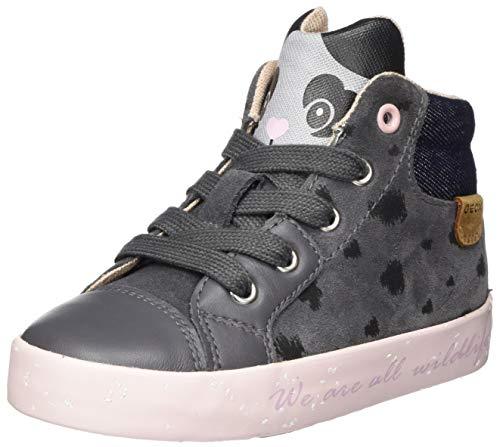 Geox Baby-Mädchen B Kilwi Girl C Sneaker, (Dark Grey), 22 EU
