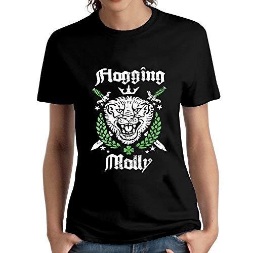 HAIZHENY Mujer Flogging Molly Art Cotton Camiseta/T-Shirt tee X-Large