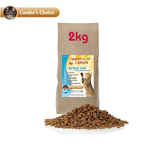 Power of Nature 2 kg Natural Cat Cookies Choice Katzenfutter Trockenfutter Huhn glutenfrei