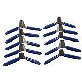 Juego de cuñas de candado de 10 piezas, accesorios de desbloqueo de acero inoxidable