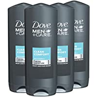 4-Pack Dove Men + Care Body Wash and Face Wash 18 oz
