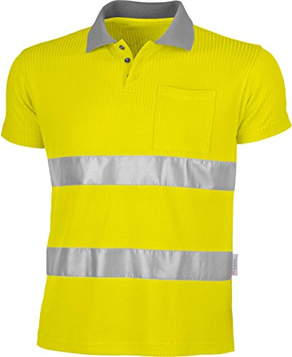 Qualitex D'Alerte de Protection Polo T-Shirt, 75% polyester/25% Viscose en 471 M - WARNGELB