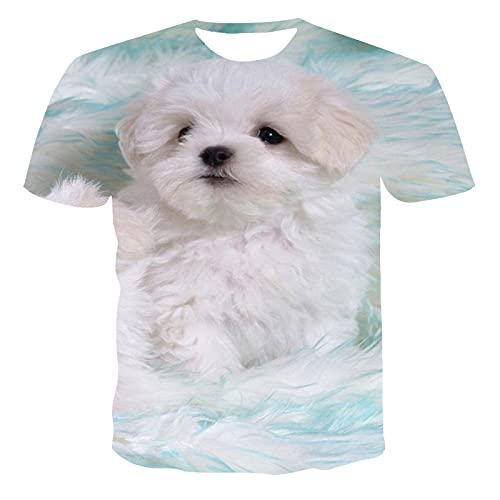 SSBZYES Camiseta De Manga Corta para Hombre Verano Camiseta De Manga Corta De Gran Tamaño para Hombre Camiseta con Estampado Animal Lindo para Hombre Camiseta con Estampado De Cachorro Y Cobertura