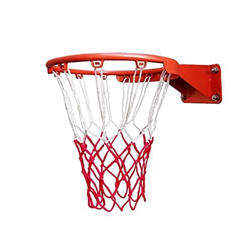 Anillo de aro de Baloncesto de Pared Anillo de Red de aro de Baloncesto montado en la Pared con Red y Fijaciones para niños de Interior al Aire Libre 18 '' 45cm Aro de Baloncesto (Color: Adul