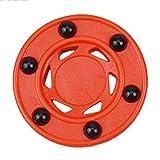 GeKLok Disco de hockey para hockey sobre ruedas, práctica perfectamente equilibrada anti rodillo Hockey Puck naranja ruedas profesionales para hielo en línea calle