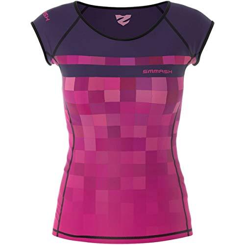 SMMASH Pixie Camiseta Deporte de Manga Corta para Mujer, Ropa Deportiva Mujer para Fitness, Yoga, Formación,...