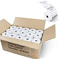 """Thermal King, Thermal Credit Card Paper (3 1/8"""" x 230' - 30 Rolls) [Thermal King Brand]"""