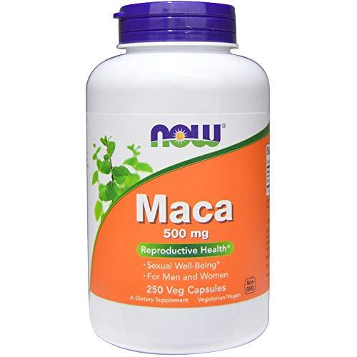 Maca Peruana 500mg (250 Cápsulas Veganas) - Now Foods