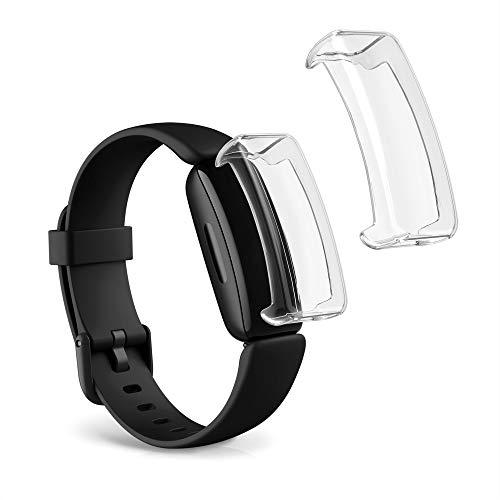 kwmobile Set 2X Compatibile con Fitbit Inspire 2 Cover Protettiva - Custodia Full Body Smartwatch - in Silicone - Trasparente