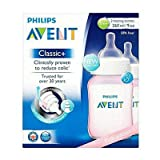 Philips Avent SCF564/27 Classic+ 2 Feeding Bottles 260ml - Pink Edition